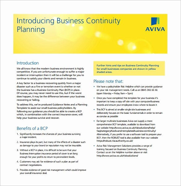 Business Continuity Plan Sample Beautiful Business Continuity Plan Template 11 Download Free Word