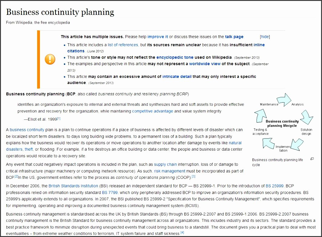 Business Continuity Plan Sample Elegant 9 Business Continuity Plan Outline Sampletemplatess