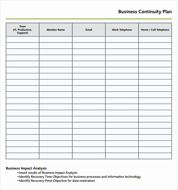 Business Continuity Plan Sample Inspirational Free 8 Disaster Recovery Plan Templates In Google Docs