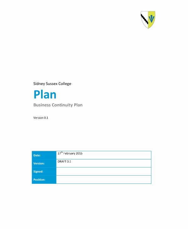 Business Continuity Plan Sample Lovely 13 Business Continuity Plan Templates and Samples Pdf