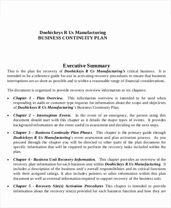 Business Continuity Plan Sample Luxury Manufacturing Business Plan Templates 15 Free Word Pdf