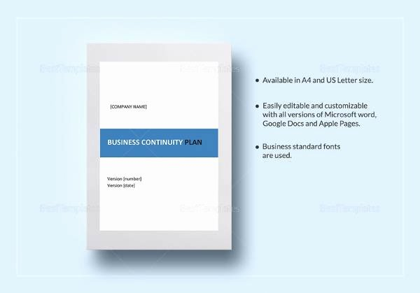 Business Continuity Plan Sample New Free 12 Sample Business Continuity Plan Templates In Pdf