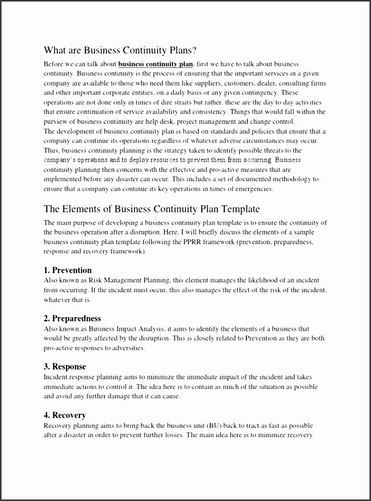 Business Continuity Plan Sample Unique 11 Business Continuity Plan Framework Sampletemplatess