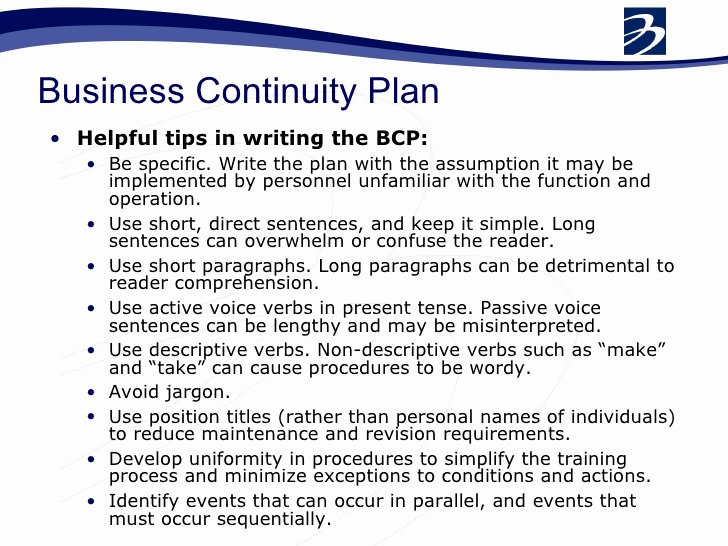 Business Continuity Plan Sample Unique Bcp Business Continuity Plan Pdf