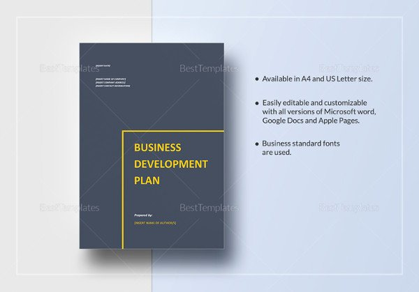 Business Development Plan Template Awesome Restaurant Business Plan 12 Free Pdf Word Documents