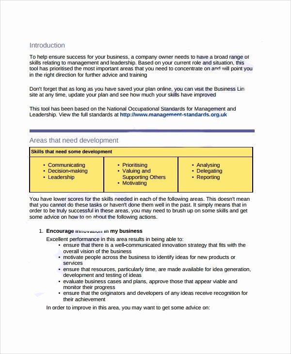 Business Development Plan Template Beautiful Sample Business Development Plan Template 6 Free
