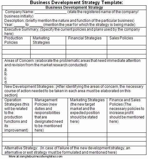 Business Development Plan Template Elegant Business Development Plan Template Sample – Sample