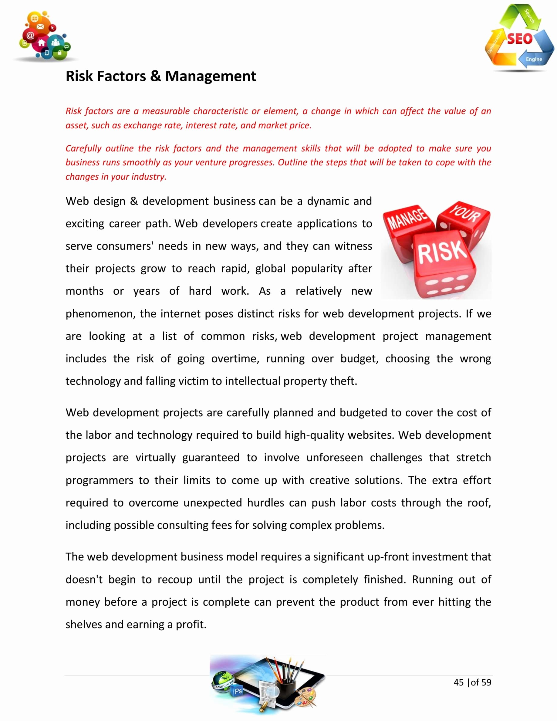 Business Development Plan Template Elegant Website Design and Development Business Plan Template