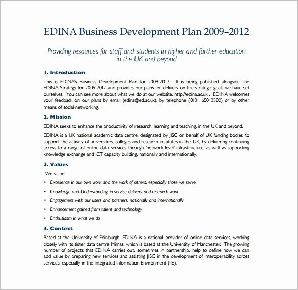 Business Development Plan Template Fresh Development Plan Template 16 Free Word Pdf Documents