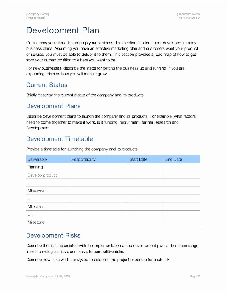 Business Development Plan Template Lovely Business Plan Template Apple Iwork Pages and Numbers