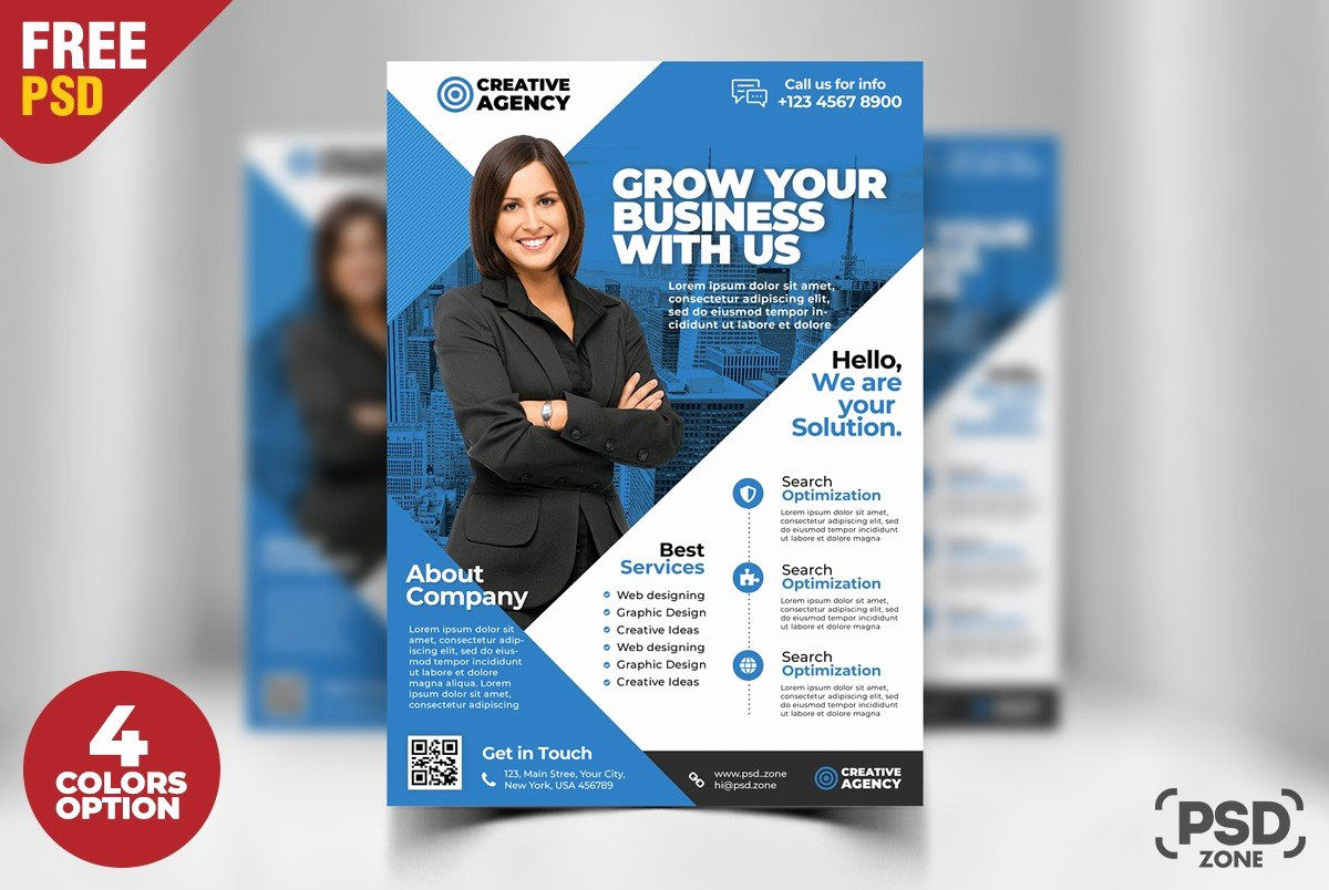 Business Flyer Templates Free Elegant Free Business Flyer Psd Template Download Psd