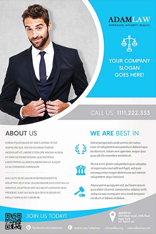 Business Flyer Templates Free Inspirational Lawyer Service Free Flyer Template Download for Shop