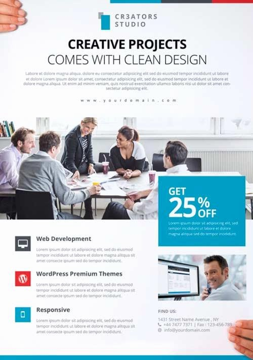 Business Flyer Templates Free Lovely 80 Creative & Modern Free Business Flyers Templates
