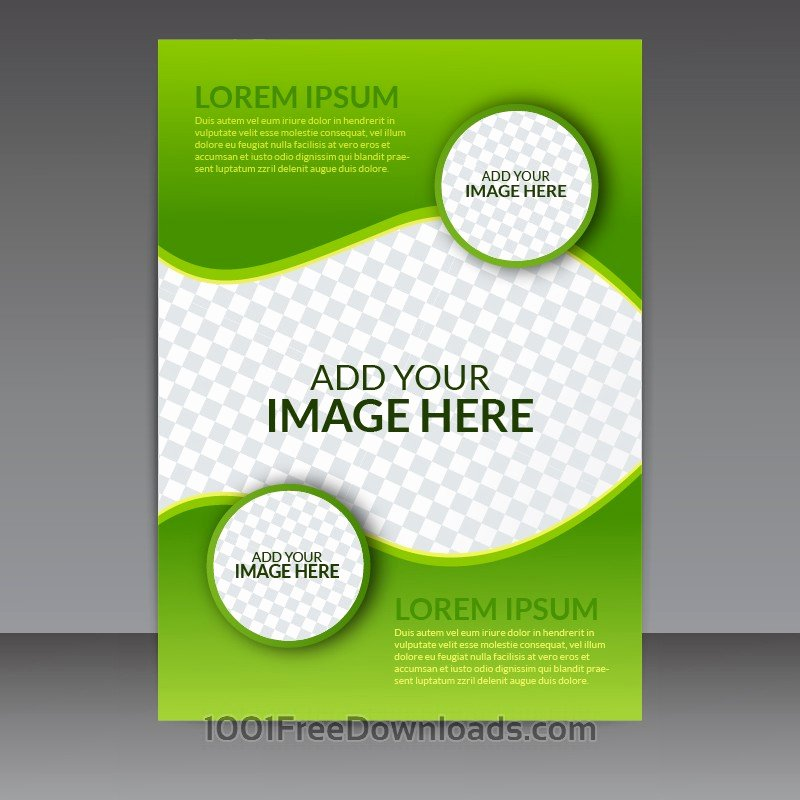 Business Flyer Templates Free Lovely Free Vectors Green Business Vector Flyer Template