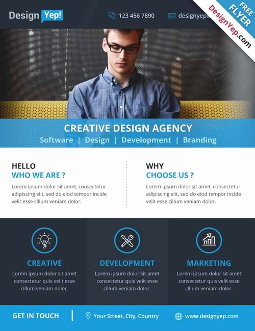 Business Flyer Templates Free Unique Download Corporate Business Agency Free Psd Flyer Template