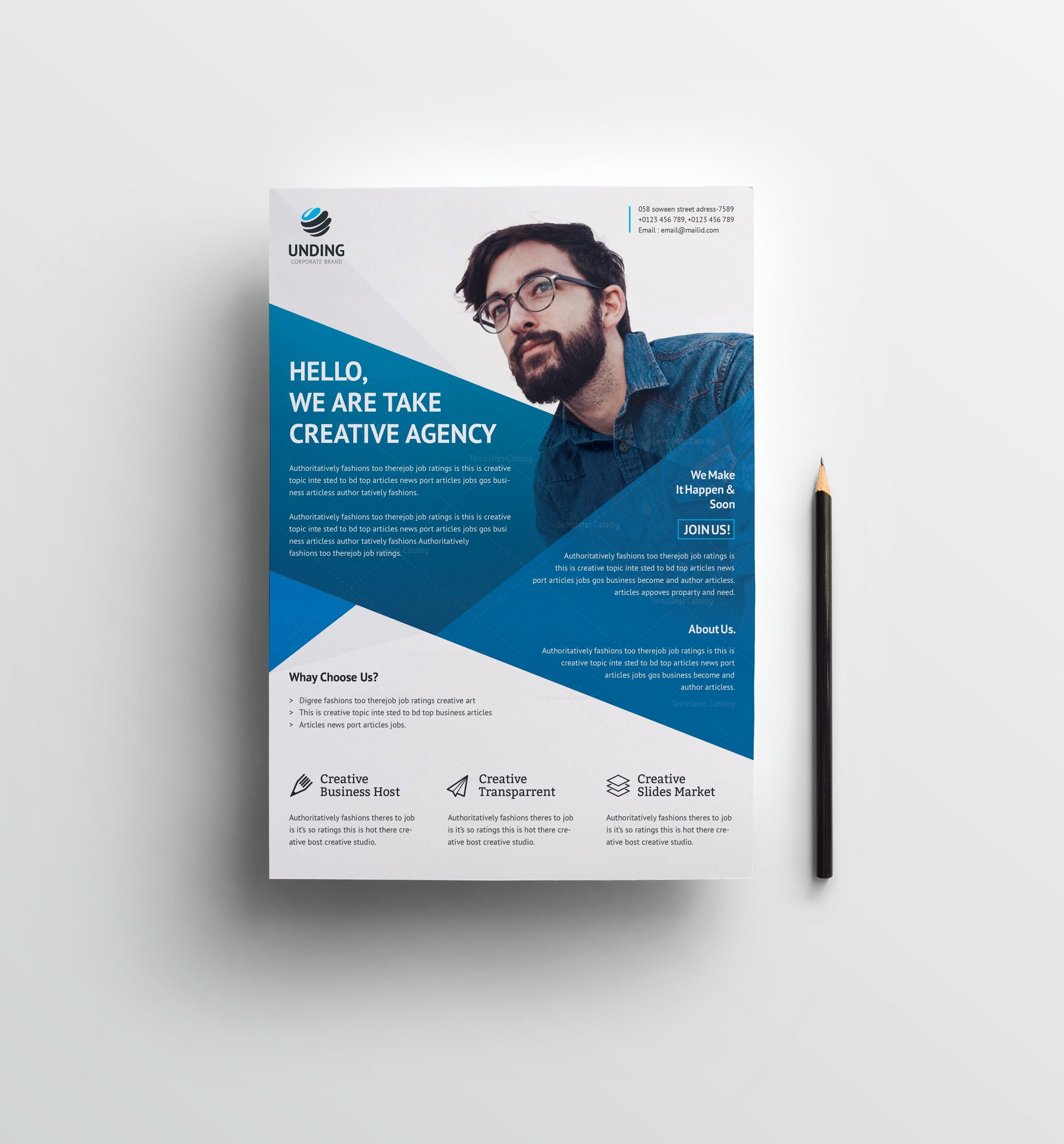 Business Flyers Template Free Awesome Cerberus Elegant Premium Business Flyer Template