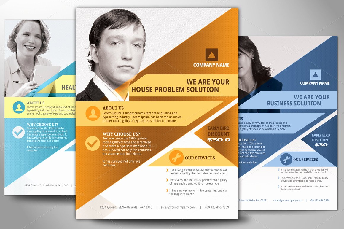 Business Flyers Template Free Awesome Multipurpose Business Flyer Poster Flyer Templates On