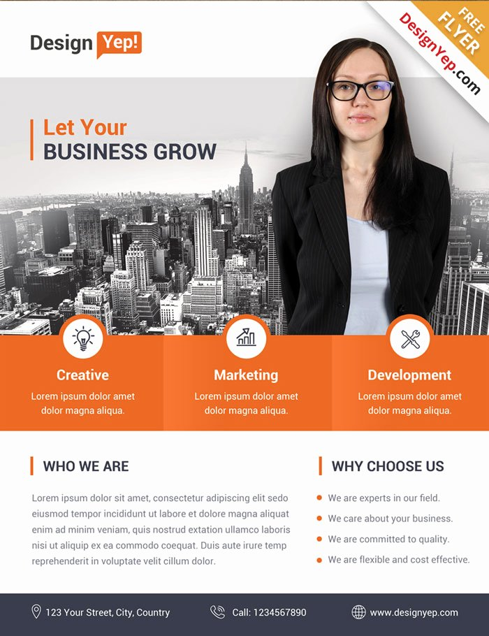 Business Flyers Template Free Best Of 32 Free Business Flyer Templates Psd for Download Designyep
