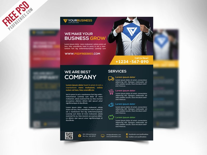 Business Flyers Template Free Elegant Free Corporate Business Flyer Template Psd Download Psd
