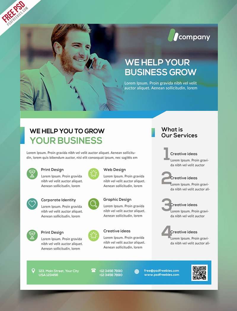 Business Flyers Template Free Inspirational Clean Business Flyer Template Free Psd