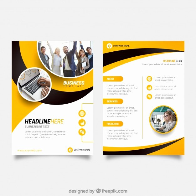 Business Flyers Template Free Inspirational Yellow and Black Business Flyer Template Vector