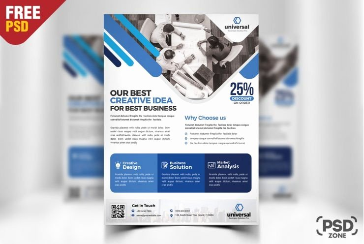 Business Flyers Template Free Unique Corporate Business Flyer Template Psd Download Psd