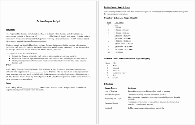 Business Impact Analysis Template Awesome Impact Analysis Template 19 Examples for Excel Word
