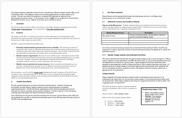 Business Impact Analysis Template Inspirational Impact Analysis Template 19 Examples for Excel Word