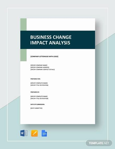 Business Impact Analysis Template Lovely Free 6 Business Impact Analysis Samples In Google Docs