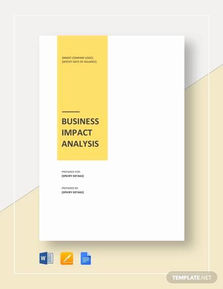 Business Impact Analysis Template New Free 16 Business Analysis Samples In Word