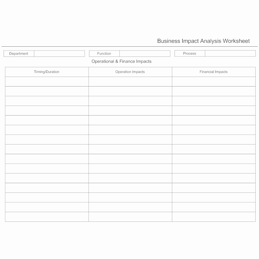 Business Impact Analysis Template Unique Business Impact Analysis Worksheet