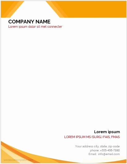 Business Letterhead Template Word Best Of 2018 10 Best Business Letterhead Templates for Ms Word