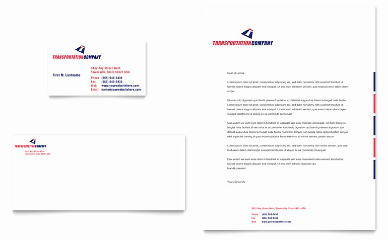 Business Letterhead Template Word Best Of Transportation Pany Business Card & Letterhead Template