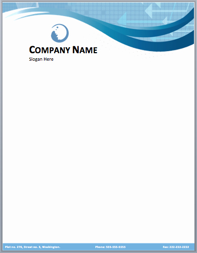 Business Letterhead Template Word Elegant Business Pany Letterhead Template Free Small Medium