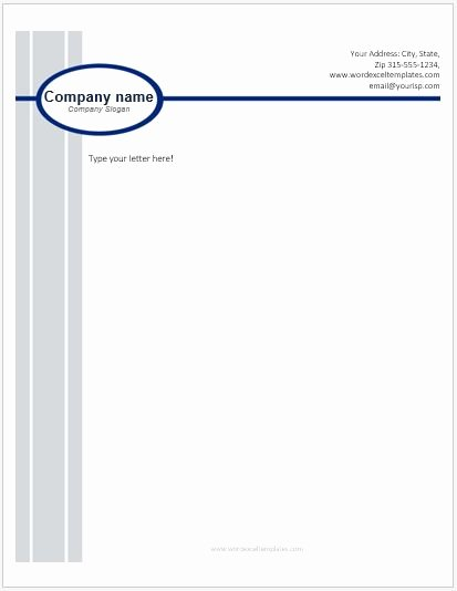 Business Letterhead Template Word Lovely Business Letterhead Templates for Ms Word