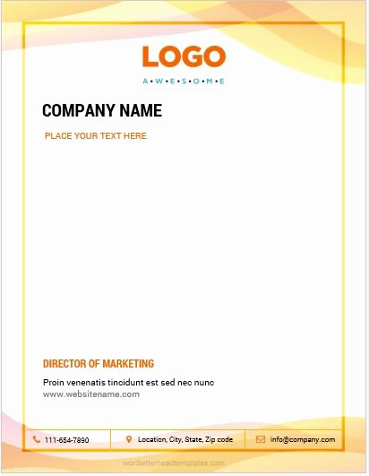 Business Letterhead Template Word Luxury 10 Best Letterhead Templates Word 2007 format