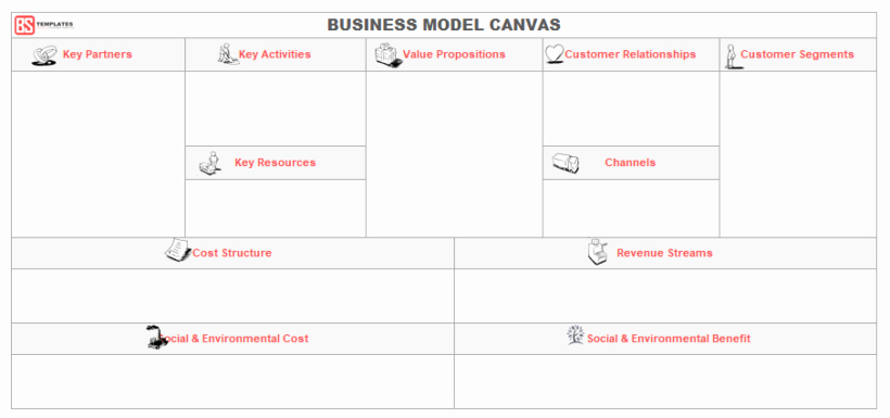Business Model Canvas Template Word Awesome Business Templates Archives Business Templates