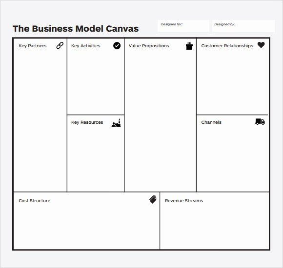 Business Model Canvas Template Word Luxury Sample Business Model 6 Documents In Pdf Word