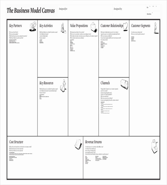 Business Model Canvas Template Word New 20 Business Model Canvas Template Pdf Doc Ppt