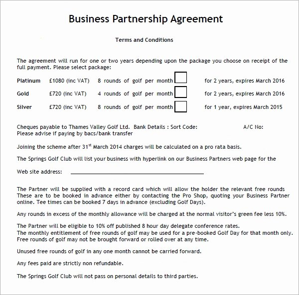 Business Partnership Agreement Template Beautiful Business Partnership Agreement 12 Download Documents In
