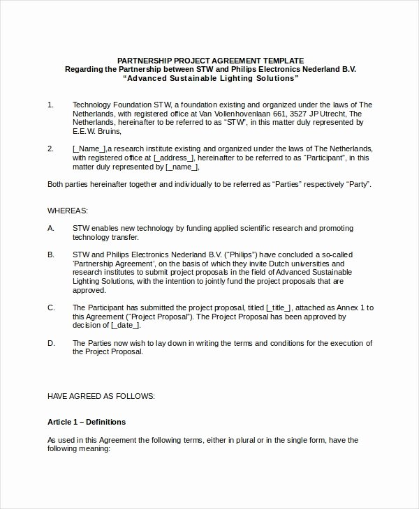 Business Partnership Agreement Template Elegant 11 Business Partnership Agreement Templates Word Pdf