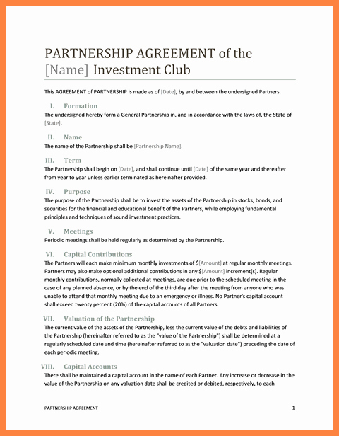 Business Partnership Agreement Template Inspirational 10 Marketing Partnership Agreement Template