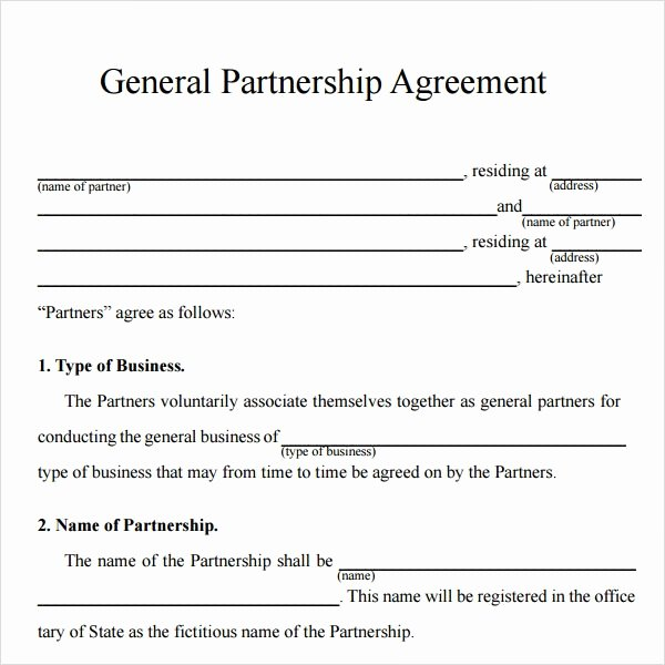 Business Partnership Agreement Template Lovely Sample Partnership Agreement 24 Free Documents Download