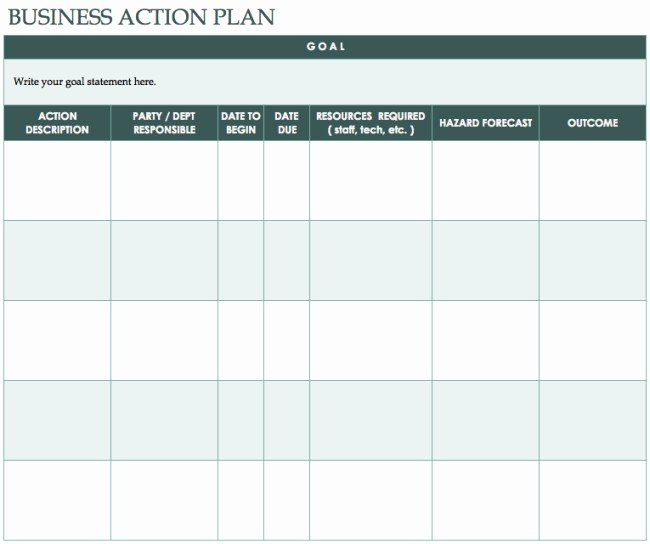 Business Plan Template Excel Elegant 41 Best Templates Of Business Action Plan Thogati