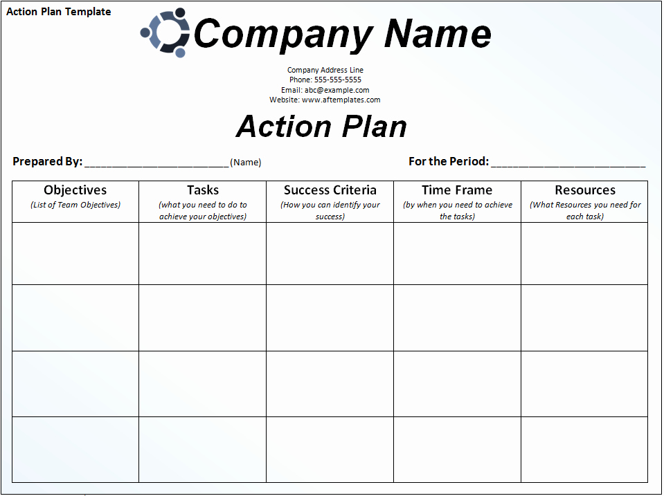 Business Plan Template Excel Elegant Business Action Plan Template