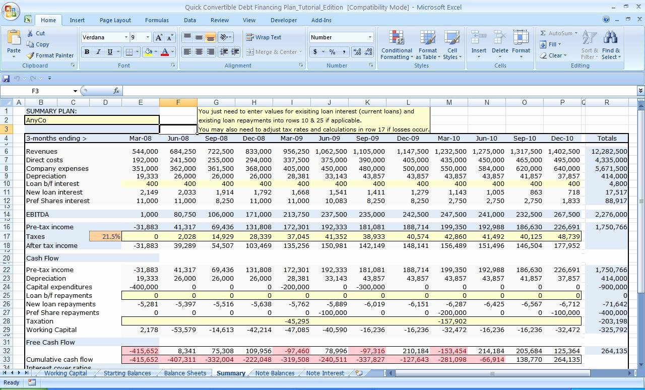 Business Plan Template Excel Fresh Business Plan Financial Template Spreadsheet Templates for