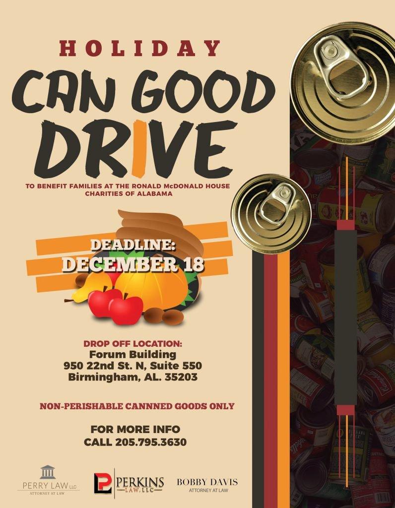Can Food Drive Flyer Beautiful Ronald Mcdonald House Charities Of Alabama