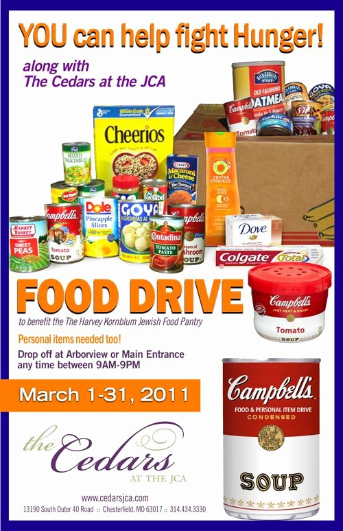 Can Food Drive Flyer Elegant Food Drive Flyer Template Bing