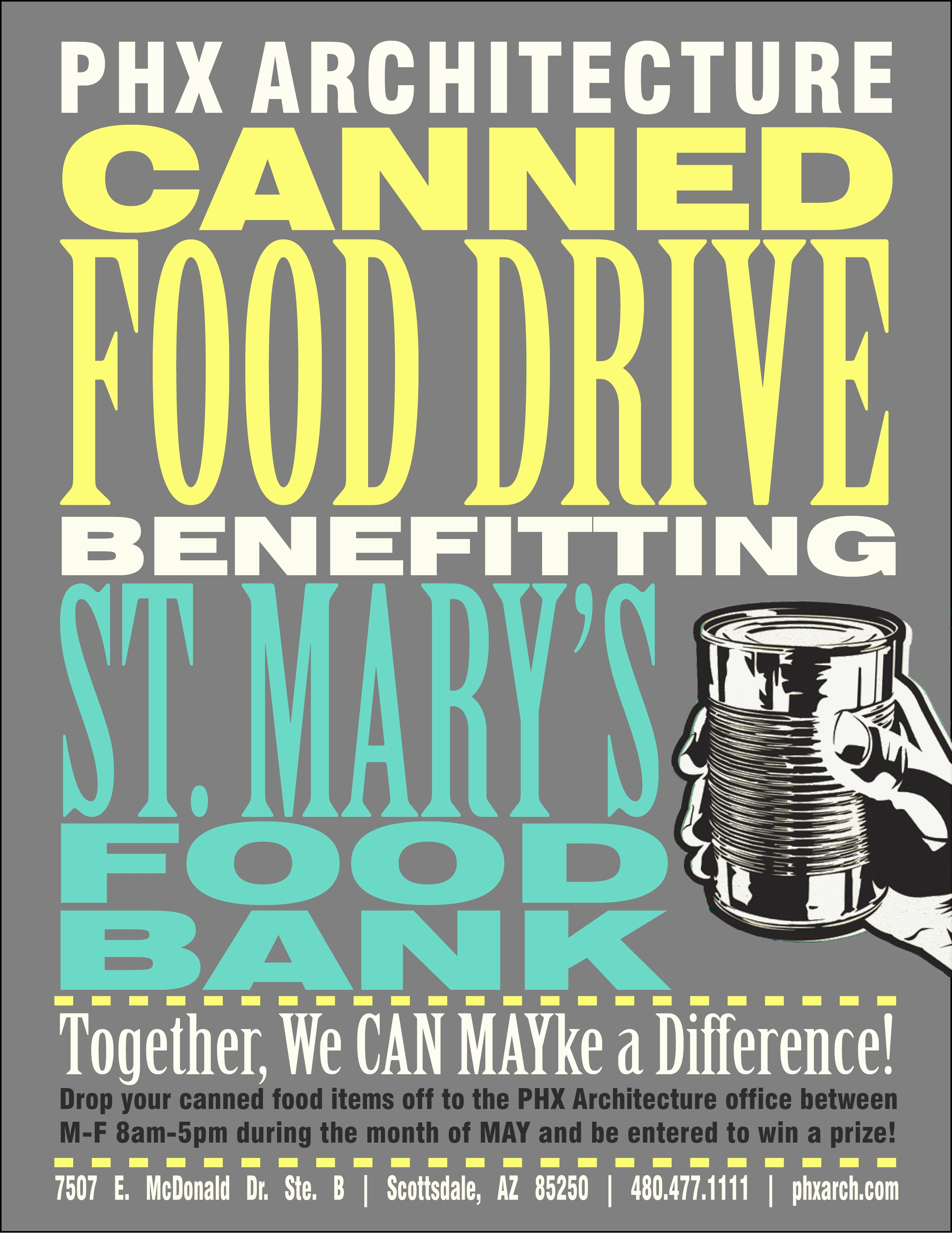 Can Food Drive Flyer Fresh April 2014