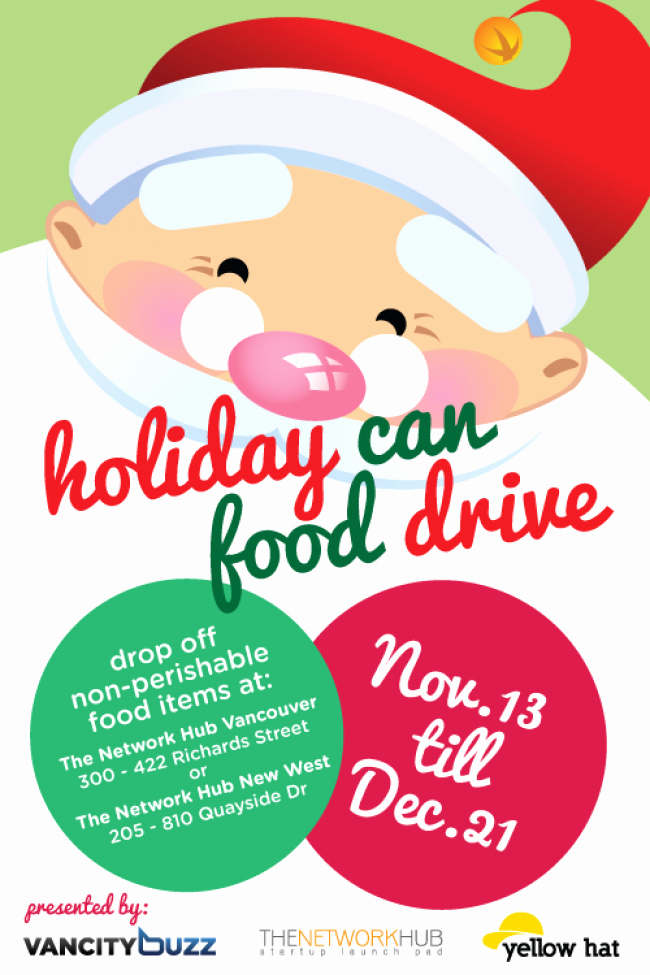 Can Food Drive Flyer Fresh Holiday Can Food Drive